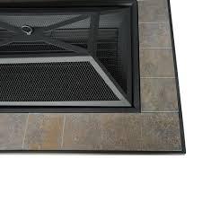 axxonn rectangular tile top pit brownish bronze walmart