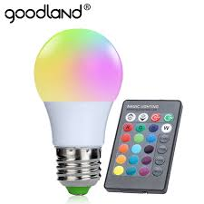 goodland e27 rgb led bulb 3w rgb led l 220v 110v led light 16