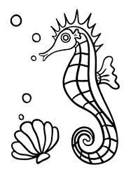 Printable Seahorse Coloring Sheet