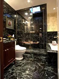 black marble tile bathroom home design