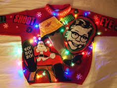 diy ugly sweater a christmas story leg l kelly not sure if