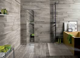 bathroom grey floor and wall tiled bathroom decor modern
