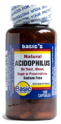 Basic Vitamins Natural Acidophilus Capsules - 100ct