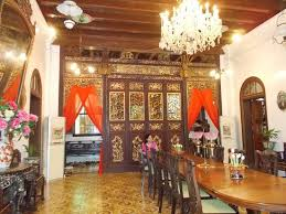 Pinang Peranakan Mansion The Big Dining Table On Downstairs Right Side To