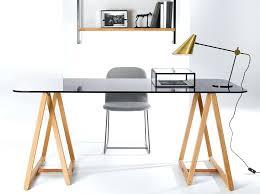 bureau avec tr eaux bureau sur treteaux tracteaux design en bois et cuir bureau avec