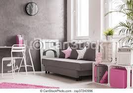 wohnzimmer in grau und rosa graues geräumiges wohnzimmer