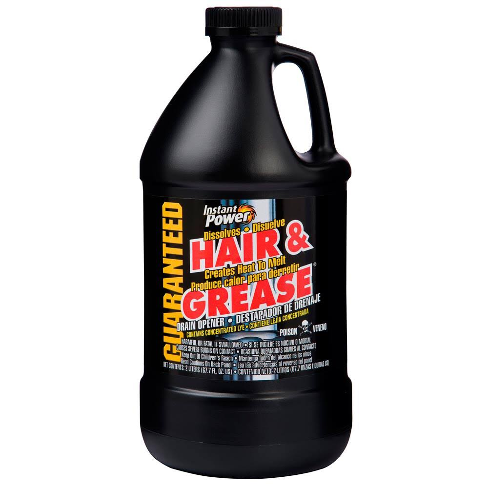 Instant Power Hair and Grease Drain Opener - 2l