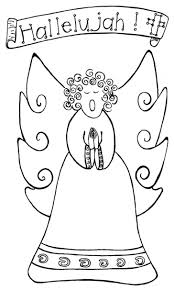 Best Angel Coloring Pages Images Drawings Google Search Angels Singing Free