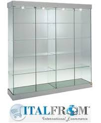 showcase shop display glass cabinet with lights h188xl182xw46 cm