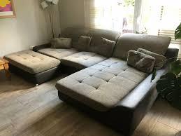 wohnzimmer sofa sitzgarnitur mehrteilig grau