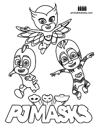 Coloring Pages For Pj Masks Best Of Catboy Page Collection Printable Gallery