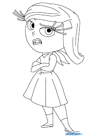 Inside Out Coloring Pages Insideout Disgust