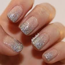 French Tip Silver Glitter Nail Glitter Nail Art