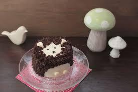 mini cakes backen kleine igel motivtorte selber machen