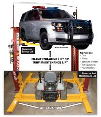 2 Post Car Lift Low Ceiling by Turf Maintenance Equipment U0026 Auto Service Lift Mohawk Lifts
