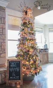Great Decorating Idea For A Skinny Christmas Tree Plus Chalkboard Sign Tutorial