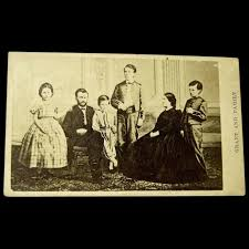 Former Civil War General And President Ulysses S Grant Family Original CDV