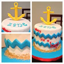 Nautical Baby Shower Cake Chevron Baby Boy Wwwfacebookcom