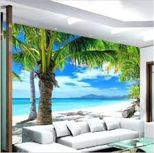 3d Wall Murals For Living Room Wallpaper Bedroom Mural Modern Beach Coconut Grove Background Luxury