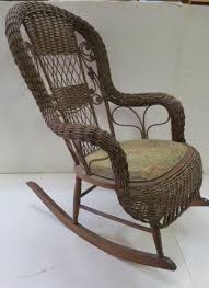 Antique Victorian Wicker Rocker: