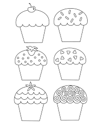 Cup Cakes Coloring Pages Free Printable Coloring Pages