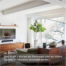 sonos play 1 multiroom lautsprecher smart speaker für wireless schwarz