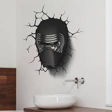 Star Wars Room Decor Uk by Zooyoo 3d Stickers Darth Vader Star Wars Broken Wall Film Wall
