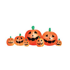 Halloween Blow Up Decorations For The Yard by Airflowz 8 Ft Inflatable Pumpkin Patch 06474 The Home Depot