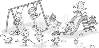 Kids Playing On Playground Clipart