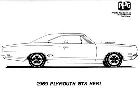 Muscle Car Coloring Book Pages Download Print Free Large Size