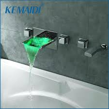 Wall Mounted Bathroom Faucets Oil Rubbed Bronze by Lavelle Wall Mount Waterfall Tub Faucet Brushed Nickel U2013 Euro Screens