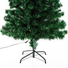 6ft Christmas Tree Cheap by Homcom 6ft Pre Lit Led Optical Fiber Christmas Tree Artificial