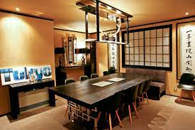 Asian Dining Table Black Unique Legs Lighting Chairs Framed Window Grey Couch