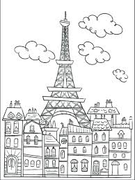 Coloring Pages Free Download For Adults No Page Adult Buildings Tower The Symbol Cute Drawing Print