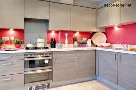 Modern Kitchen Decorating Ideas White Pink Lighting