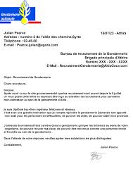 bureau de recrutement gendarmerie candidature acceptée service 1 candidature de julian pearce