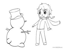 Free Printable Winter Sports Coloring Pages Playing Kids Mat With Snowman