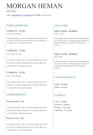 Free Simple and Basic CV templates in Word