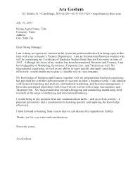 Cover Letter Examples For Internship Writing All About With Business
