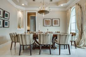 Raw Silk Curtains With Traditional Dining Tables Room Mediterranean And High Ceiling