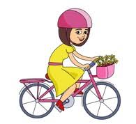 Riding Bicycle With Full Basket Clipart 616122 Size 81 Kb From
