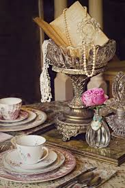 Vintage Wedding Centerpieces Ideas With Pearls Silver Old Books And Crystal