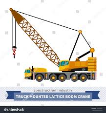 Truck Mounted Lattice Boom Side View Stock Vector (Royalty Free ...