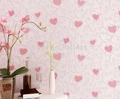 Pink Love Heart Cartoon Princess Girl Room Bedroom Decor Wallpaper
