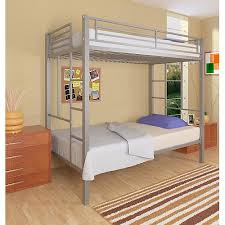 dorel your zone twin over twin metal bunk bed silver walmart com