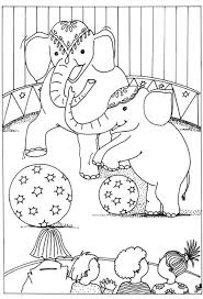 Circus Coloring Pictures Of Animals