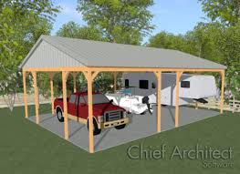creating a pole barn structure