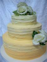 Ombre 2 Tier Rustic Wedding Cake