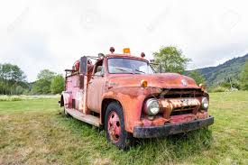 100 Ford Fire Truck Klamath California June 16 Old Rusting Away
