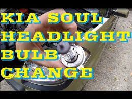 how to change replace headlight bulb in kia soul